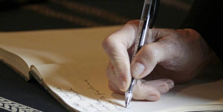 Hand Schrift Testament