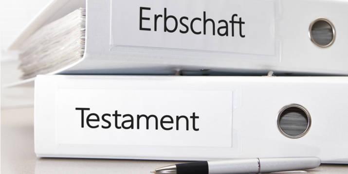 Ordner Erbschaft Testament