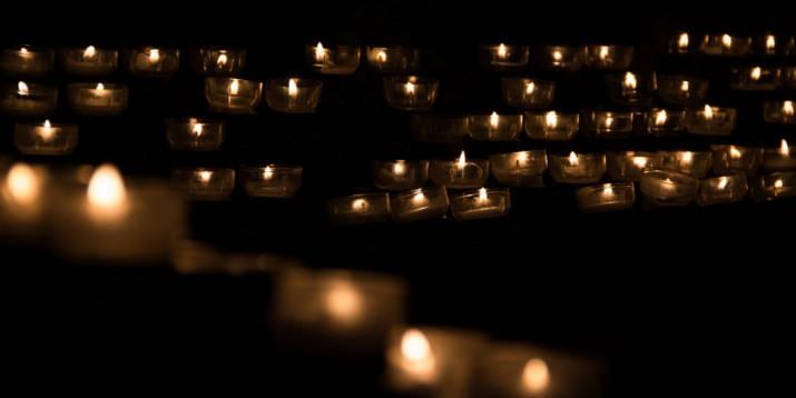 Kerzen Beerdigung