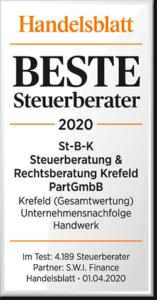 Beste Steuerberater 2020 StBK Steuerberatung Rechtsberatung Krefeld